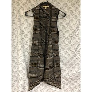 NWOT Urban Outfitters Flowy Long Vest  Med.